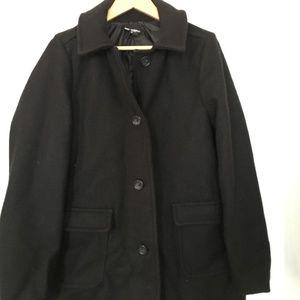 American Apparel Black Wool Audrey Coat, Size M